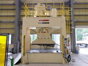 ラム移動式製缶プレス HPFR-200VW:大阪ジャッキ製作所