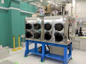 放射化試料用グローブボックス(GB for radioactive samples)